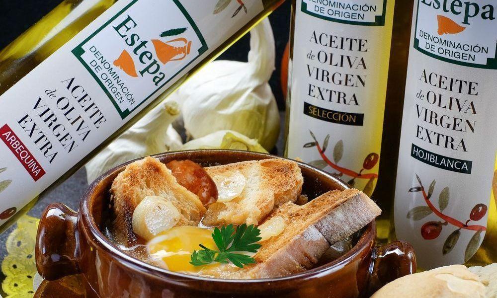 Sopa de ajo elaborada con un excelente virgen extra