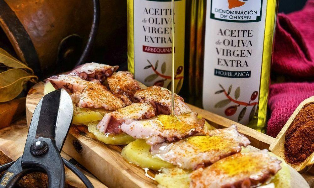 Pulpo a la gallega con el mejor aceite de oliva virgen extra