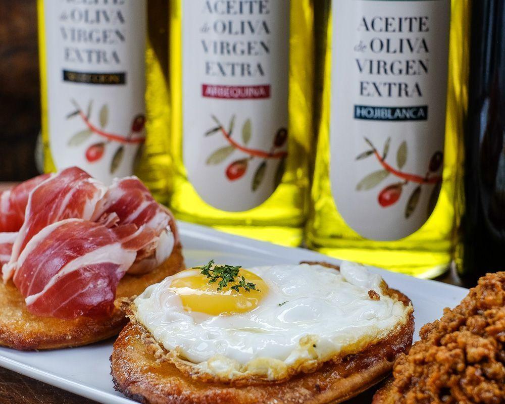 Tortos de maíz con huevo elaborados con el mejor aceite de oliva virgen extra