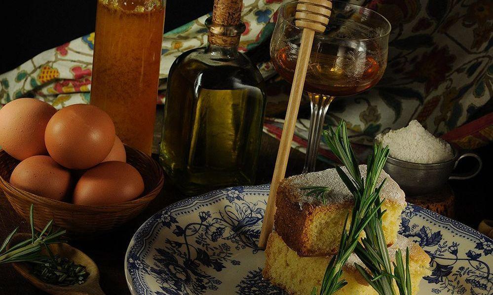 Bizcocho de romero y miel elaborado con el mejor virgen extra
