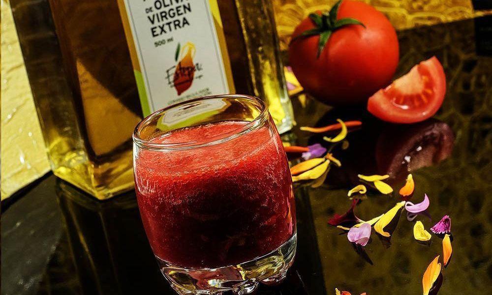 Gazpacho de Frutos Rojos elaborado con el mejor virgen extra
