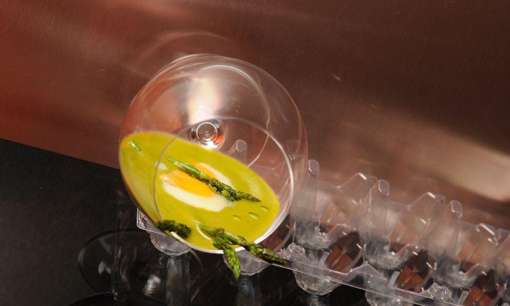 Sopa de Espárragos elaborada con AOVE de la DOP Estepa
