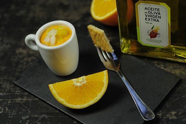 salmorejo de naranja y bacalao