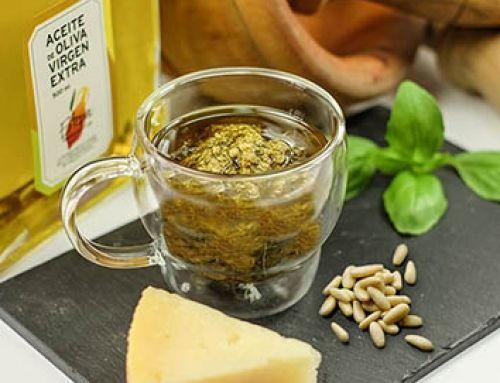 Salsa Pesto con Aceite de Oliva Virgen Extra