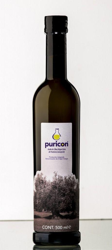 Puricon Multivarietal, aceite de oliva virgen extra amparado bajo la DOP Estepa