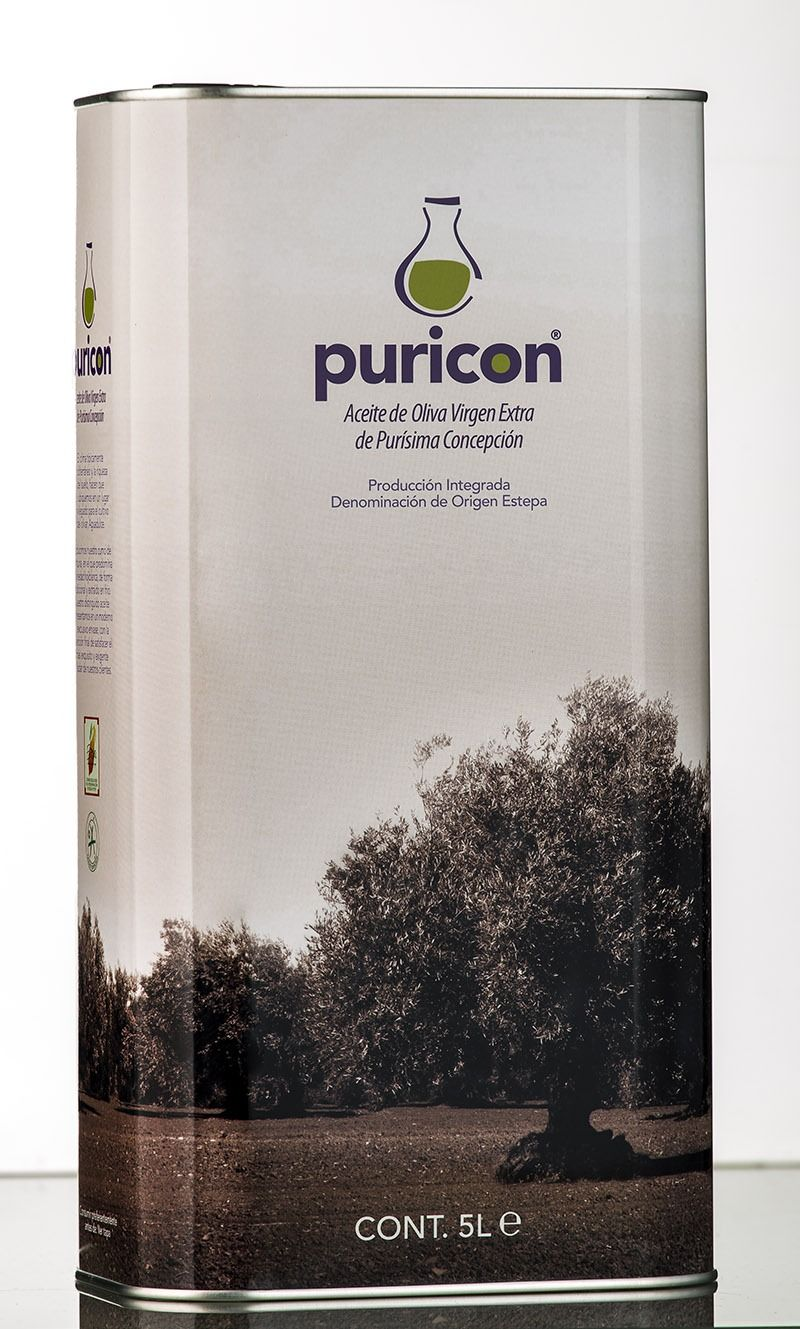 lata 5 litros Puricon aceite de oliva virgen extra