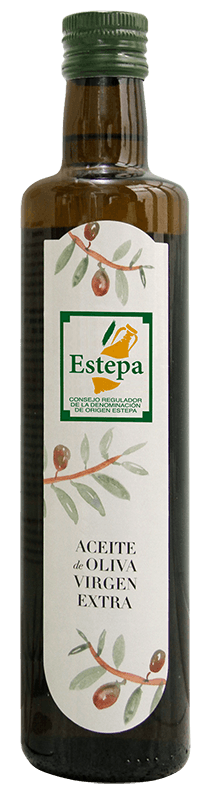 Botella de la Denominación de Origen Estepa