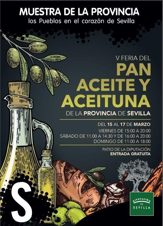 Cartel de la V Feria del Pan, Aceite y Aceituna de Mesa 2019