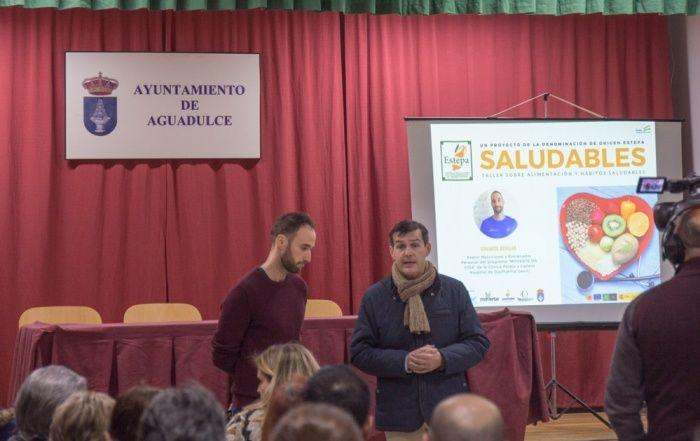 Eduardo Aguilar en el Taller Saludables - Aguadulce, 2020
